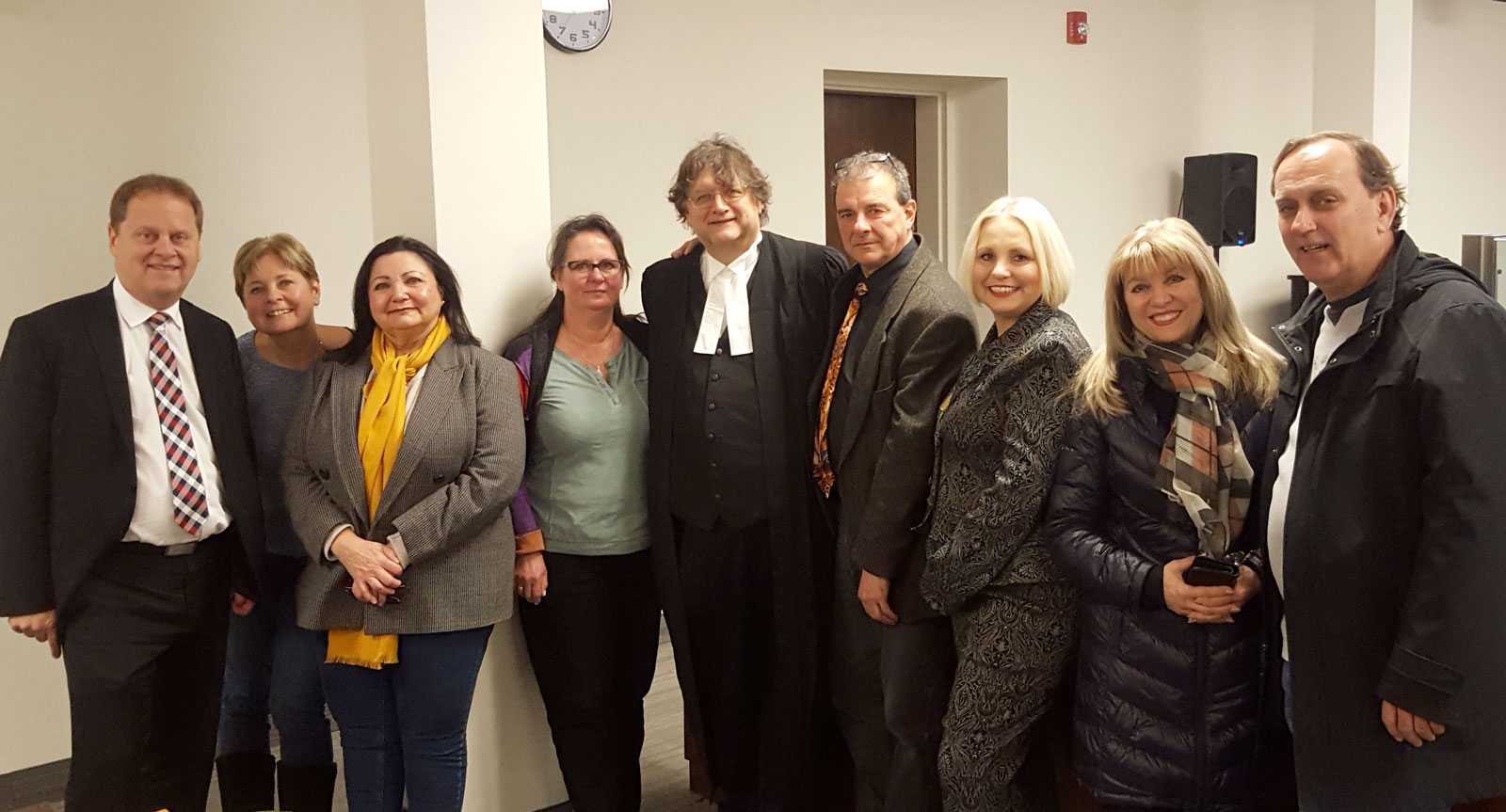 Photo taken after the Cherrier v. Canada case